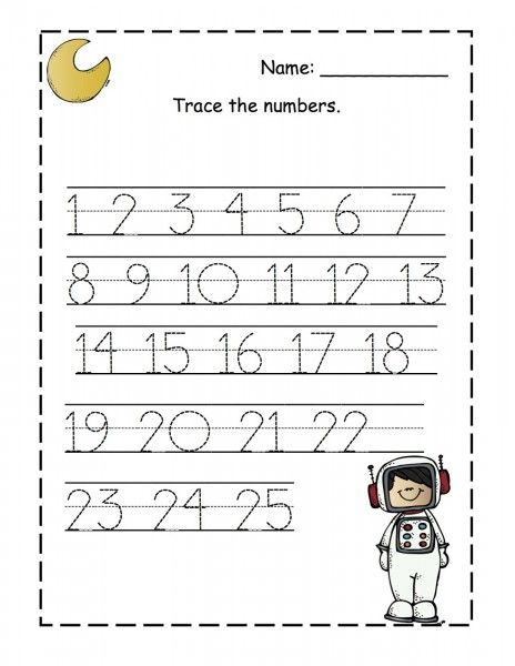 Tracing Numbers 1 25