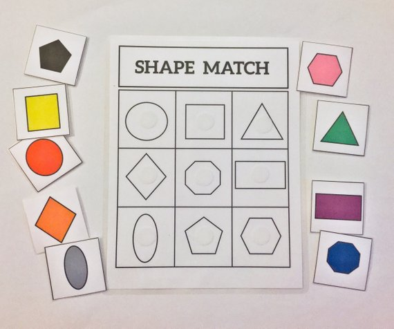Shape Match Game Learning Game
