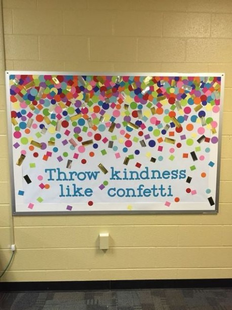 Confetti Bulletin Board  So Cute! Could Add Student Work On Top Of