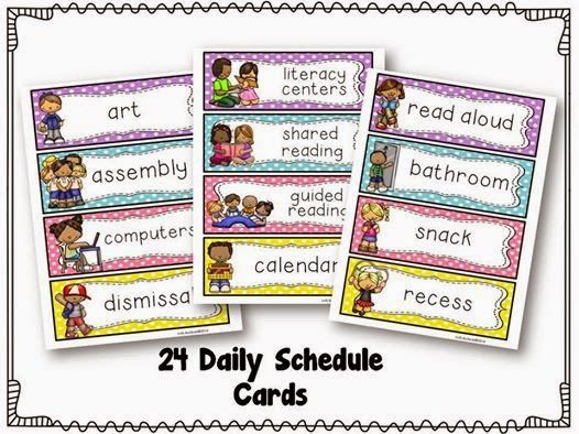 Free Daily Schedule Cards