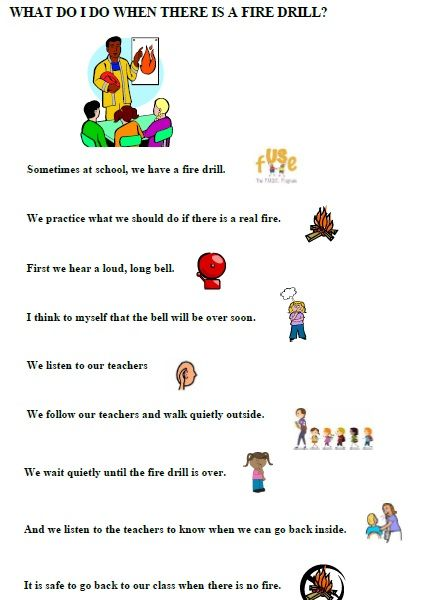 Fire Drill  A Social Story To Help Children Learn What Is Expected