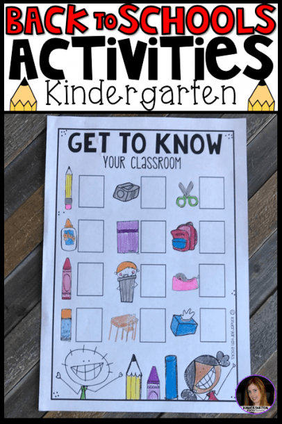 Must Have Back To School Activities For Kindergarten