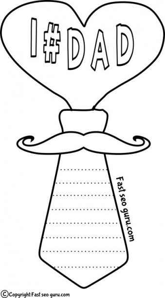 Printable Best Dad Coloring Pages For Kids Print Out Father Day