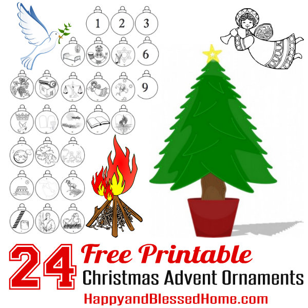 Free Advent Calendar And Advent Christmas Ornaments Craft For Kids
