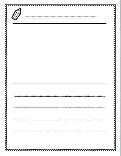 Free Lined Paper With Space For Story Illustrations