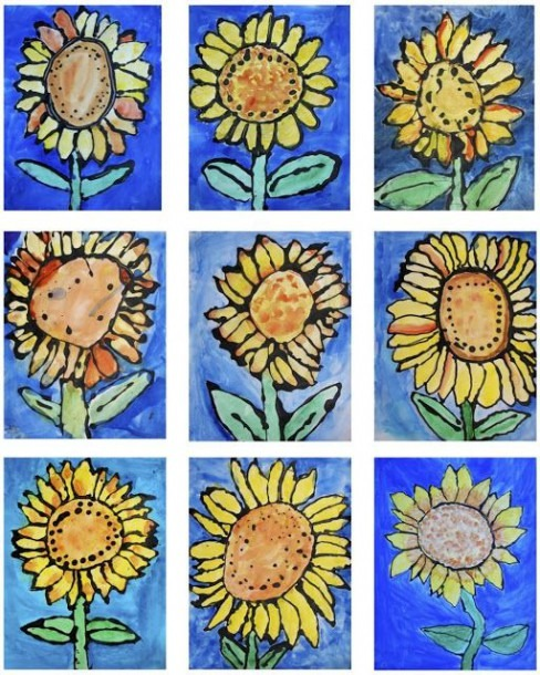 The Rolling Artroom  Sunflowers 1st