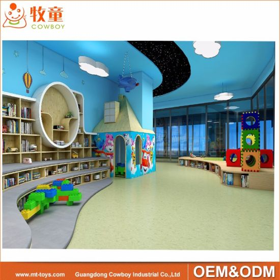 China 300 Sqm Library Center Furniture For School With Decoration