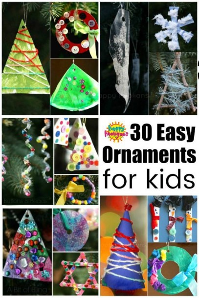 30 Easy Kids' Christmas Ornaments To Make At Home