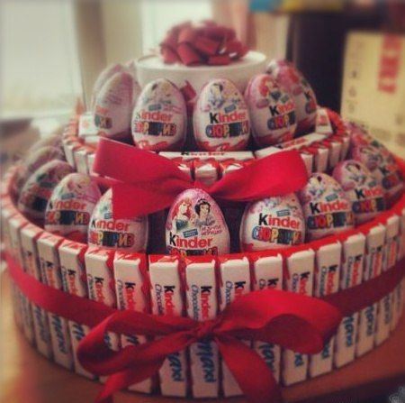 Kinder Chocolate Joy Kinder Bar Kinder Surprise Egg Cake Tower