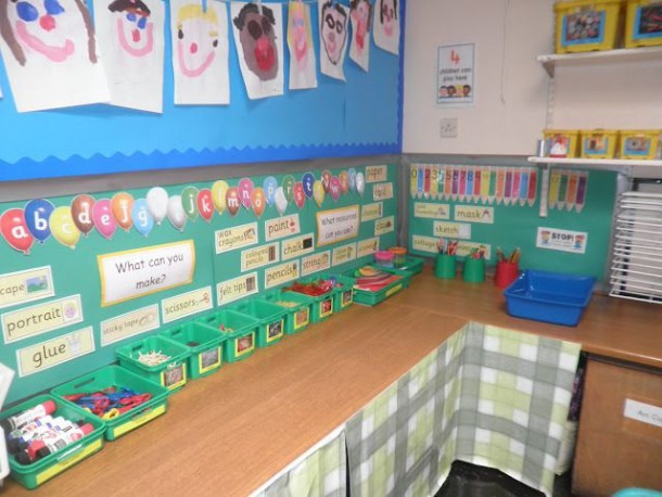 Continuous Provision Creative Area For Children To Choose