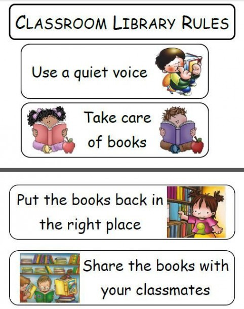 Classroom Library Rules …