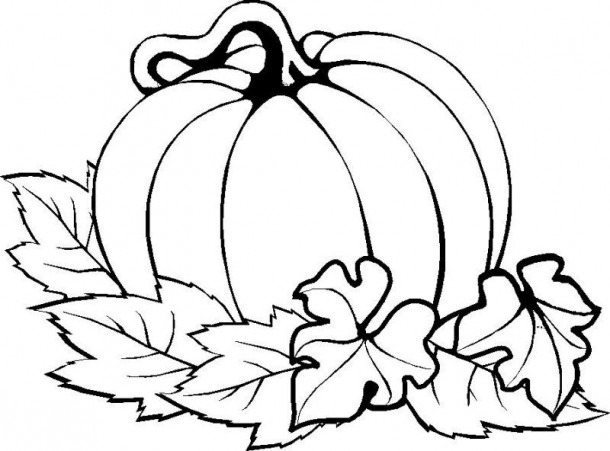 Pumpkin Easy Thanksgiving Coloring Pages Printables