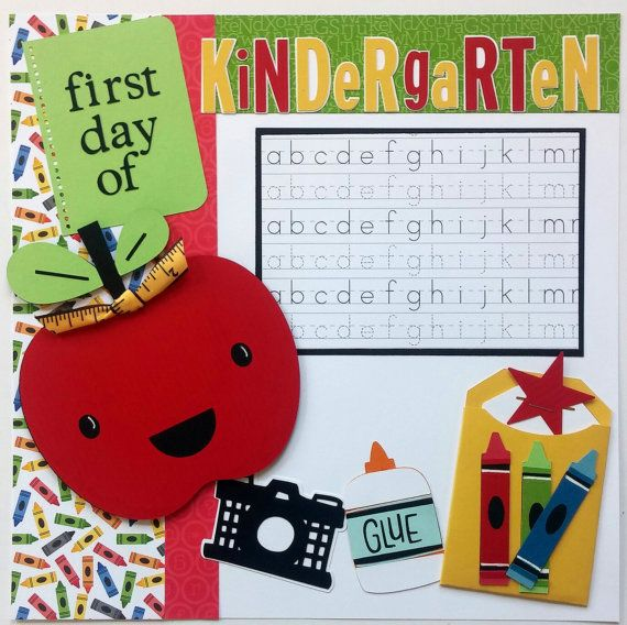 Kindergarten Scrapbook Pages First Day Of School By Ohioscrapper
