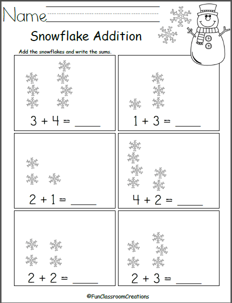 Add The Snowflakes