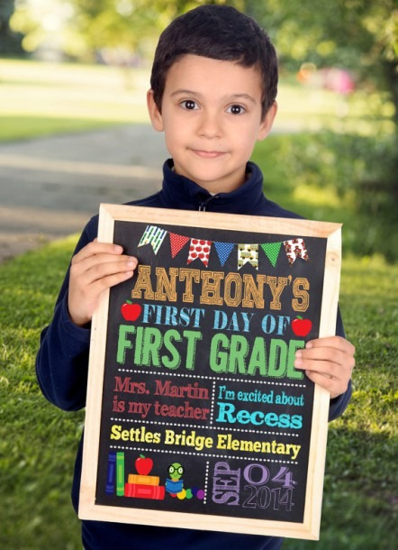 First Day Of School Sign, First Day Of Kindergarten Sign, First