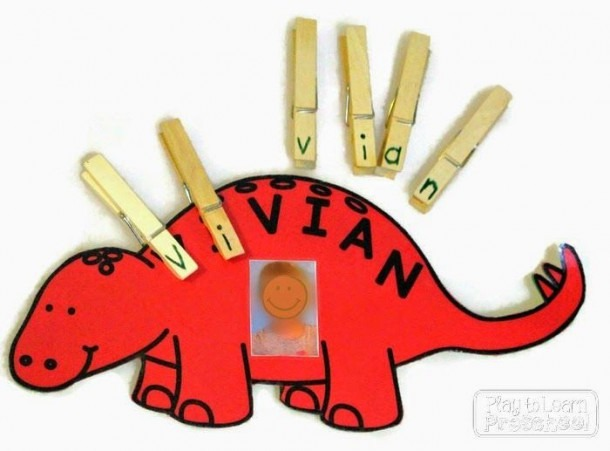 Preschool Learning To Spell Your Name Practice