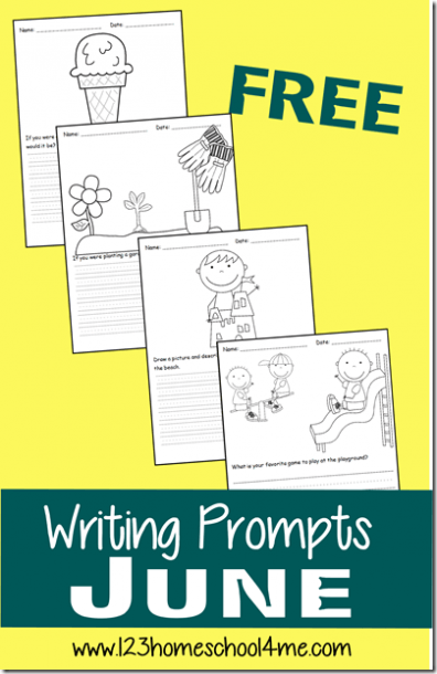 Free Summer Writing Prompts
