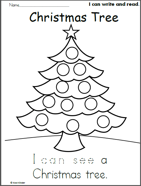 Christmas Tree Read And Trace