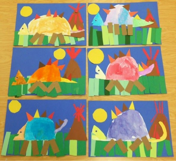 Art With Mr  Giannetto  Kindergarten Dinosaurs