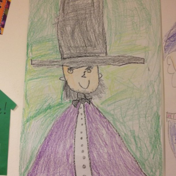 A Directed Drawing Of Abraham Lincoln – One Of My Favorite