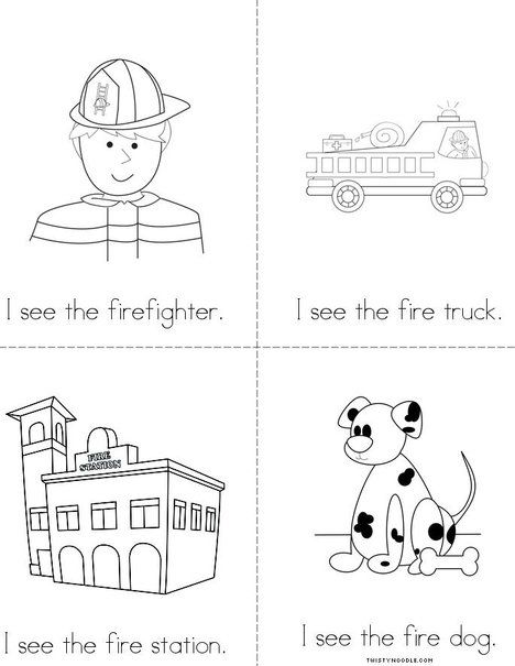 I See The Firefighter Mini Book (free) From Twistynoodle Com