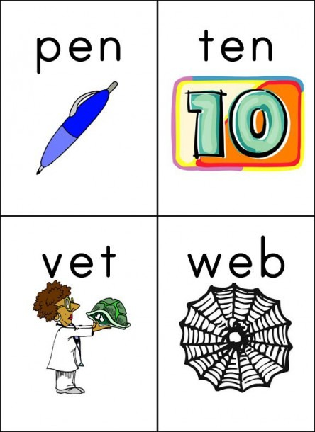 Cvc Word Pic Flashcards