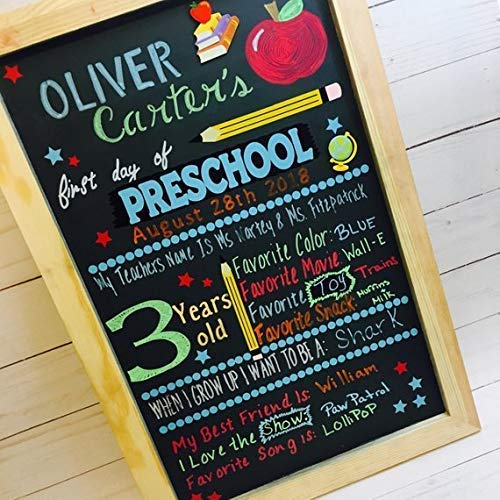 Amazon Com  First Day Of School Chalkboard Sign, First Day Of