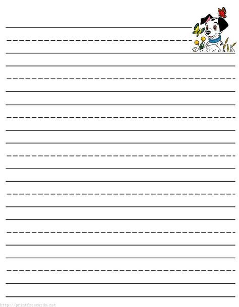 Dragon Free Printable Stationery For Kids, Primary Lined Dragon