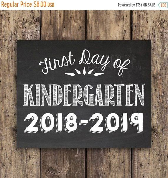 Thru 3 23 Only First Day Of Kindergarten Sign, Kindergarten, First