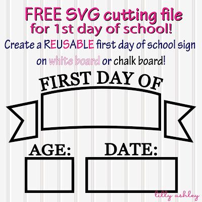 Free Svg Cut File For First Day Of School
