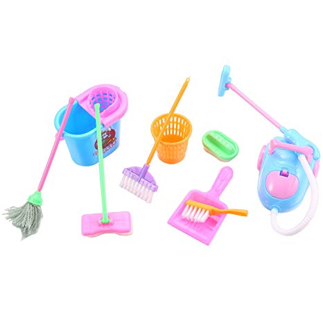 Amazon Com  Bifast Kids Play House Cleaning Set Broom Mop For