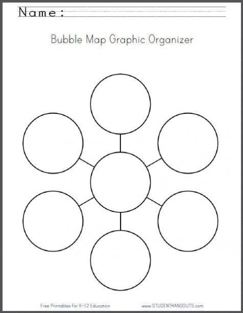 Bubble Map Graphic Organizer Worksheet