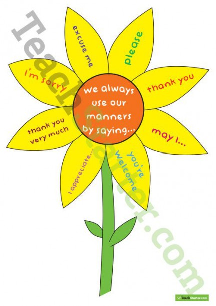 Sunflower Manners Sign