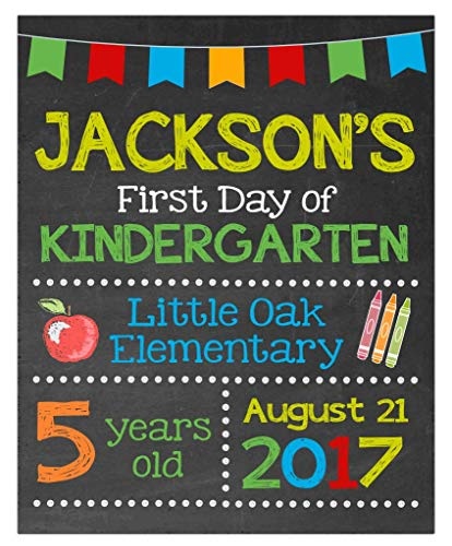 Amazon Com  First Day Of School Paper Art Print
