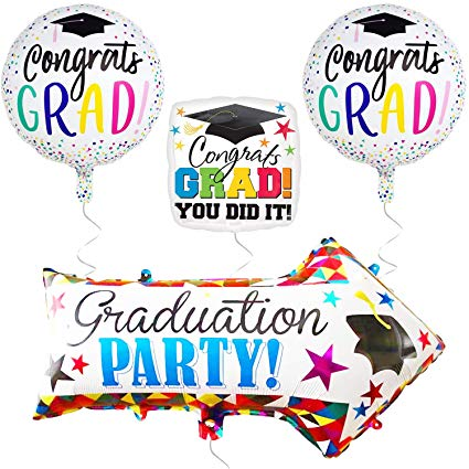 Amazon Com  Graduation Balloons And Yard Sign