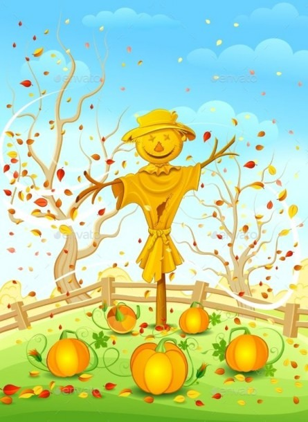 Funny Scarecrow By