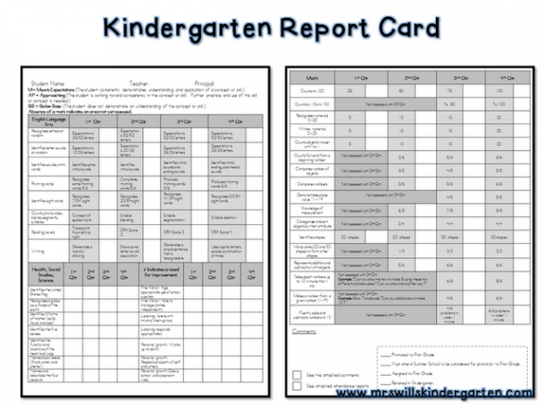 Free Report Card Template!