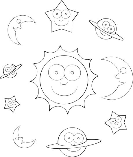 Solar System Color Sheet For Pre