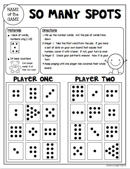 Math Games For Kinder Partners {reproducible And Reusable Games
