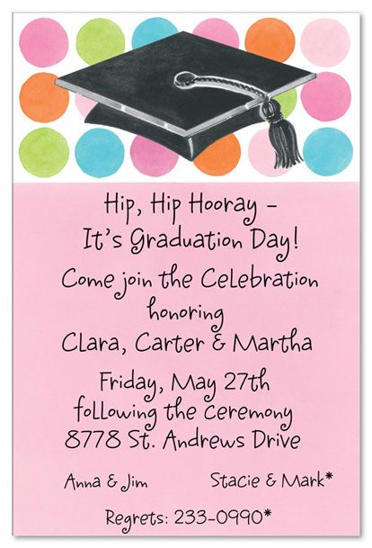 Graduation Invitations & Announcements Party Diy Templates, Over