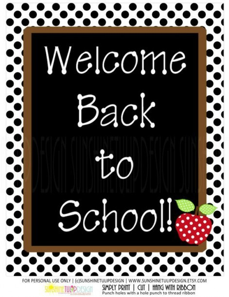 Welcome Back To School Signs Group With 80+ Items