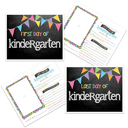 Amazon Com  Kindergarten First & Last Day Of School Photo Prop