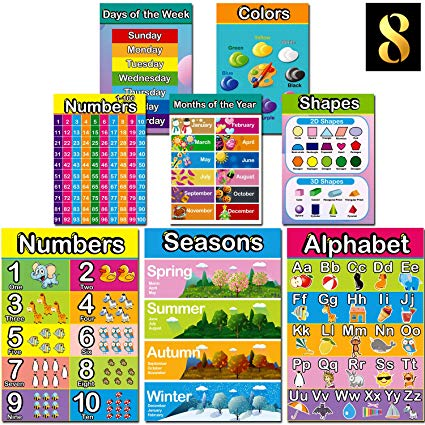 Amazon Com   Large Size Educational Preschool Poster, Easy Read