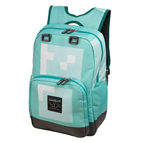Amazon Com  Jinx Minecraft Diamond Kids School Backpack, Blue, 18