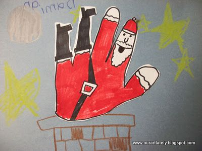 Great Website For Project Ideas! This Image, Falling Santa With