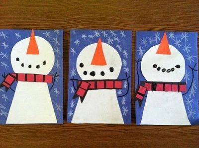 Circle Trapezoid Craft Snowman Crafts For Preschoolers