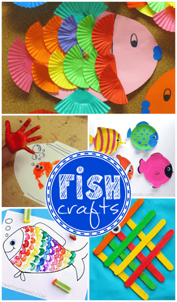 Creative Little Fish Crafts For Kids (fun For Ocean Themed Art