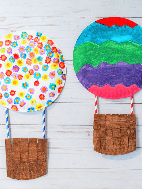 Paper Plate Hot Air Balloon Craft