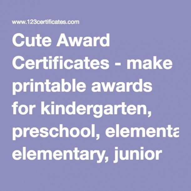 Cute Award Certificates