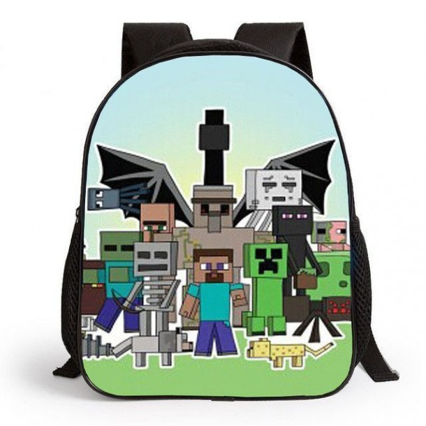 New Fashion 2017 Cartoon Backpack For Children Minecraft Children